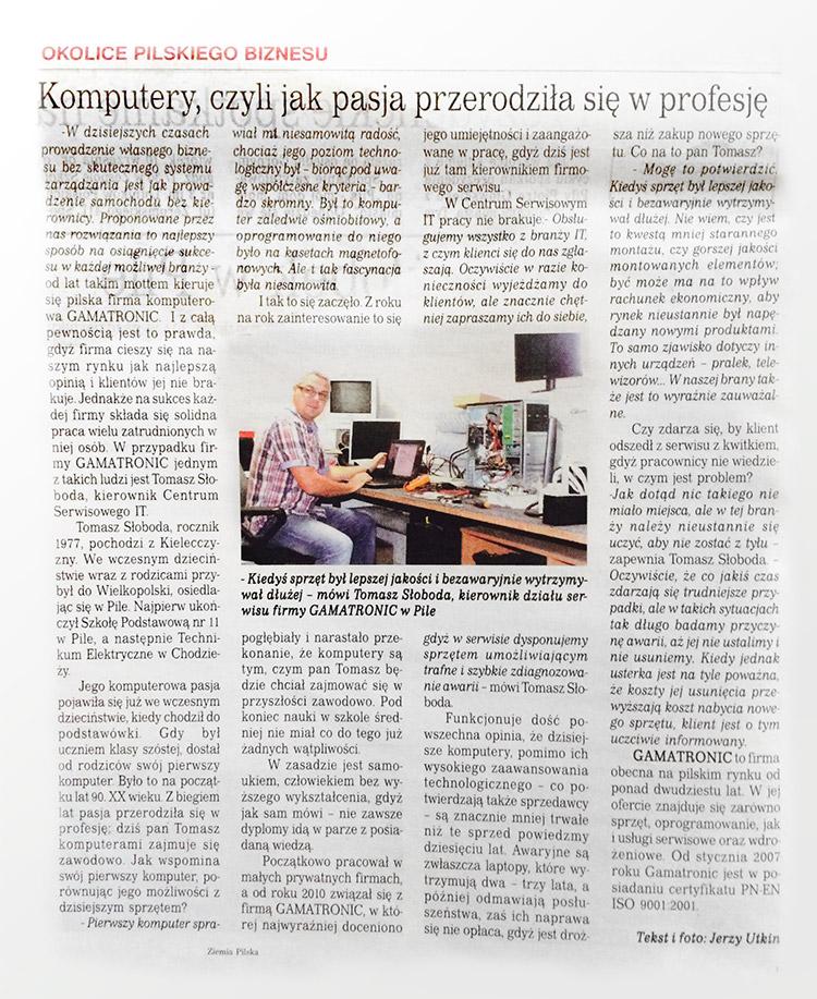Centrum serwisowe IT w Pile w Tygodniku Nowym